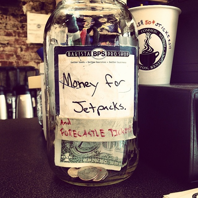 Tip Jar Courtesy of A Cup of CommonWealth in Lexington, KY