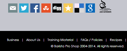 Find Training Materials link on the horizontal black navigation bar on the bottom of the page.