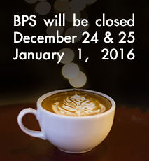 BPS, December, January, Latte Art, Holiday, Hours
