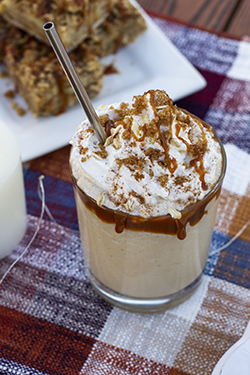 Kyla's Harvest Caramel Apple Crumble Milkshake