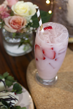 Mikenna's Creamy Strawberry Refresher - February Lively Libations 2019
