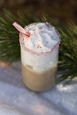 Mikenna's Candy Cane Frappe - January Lively Libations 2019