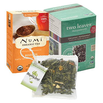 Numi, Two Leaves, Mighty Leaf Tea
