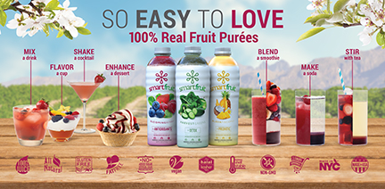 Smartfruit 100% Real Fruit Purées