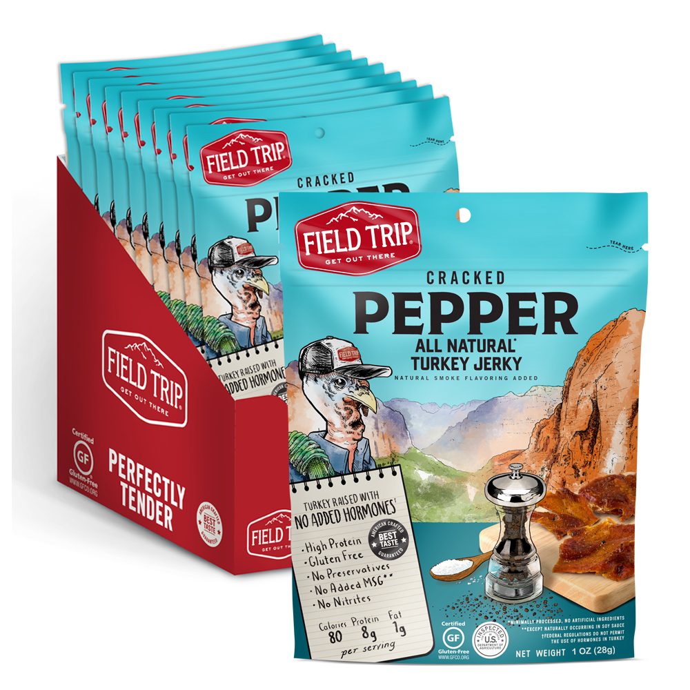 Field Trip Jerky Cracked Pepper Turkey Jerky - 1 oz. Bag(s ...