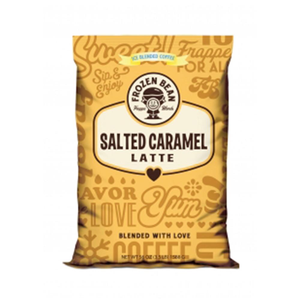 Frozen Bean Sea Salt Caramel Latte Frappe Mix Iced Coffee: Frozen Bean Sea Salt Caramel Latte Beverage Mix