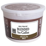 Big Train Big Train | Tub Kit(s) for Chocolate Malt Blended Iced Coffee  (Includes tub, lid, sticker and 60 cc scoop)